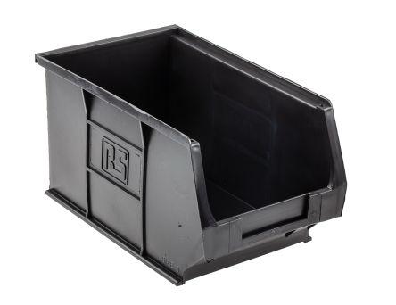 Rs Pro Black Plastic Stackable Storage