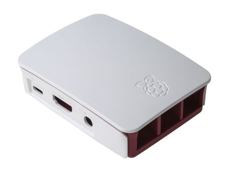 Official, Red, White Raspberry Pi Case
