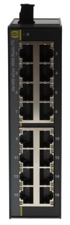 HARTING Unmanaged Ethernet Switch, 16 DIN Rail Mount, 10/100Mbit/s