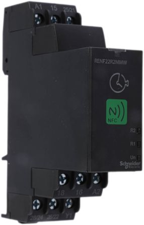 Schneider Electric Multi Function with NFC Multi Function Time Delay Relay, Screw, 0.1 s → 100 h, DPDT, 2