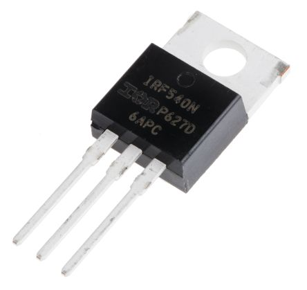 N-Channel MOSFET, 33 A, 100 V, 3-Pin TO-220AB Infineon IRF540NPBF
