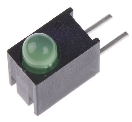 Dialight 551-0207F, Green Right Angle PCB LED Indicator 3mm (T-1), Through Hole