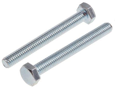 Zinc Plated Steel Hex M4 x 35mm Set Screw