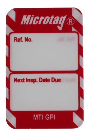 Microtag Next Inspection,Red,English