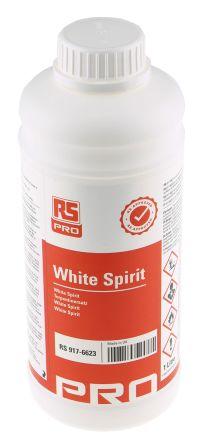 RS PRO 1 L Bottle White Spirit for Cleaning, Degreasing