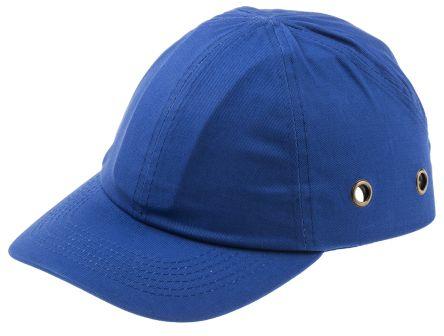 Cotton ABS Royal Blue Standard Peak Bump Cap product photo