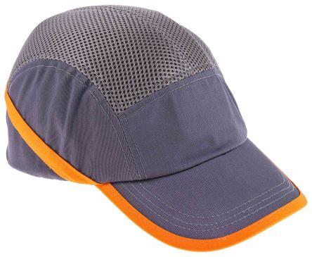 Cotton ABS Grey Standard Peak Bump Cap product photo