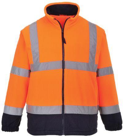 RS PRO Navy/Orange Men's S Fleece Hi Vis