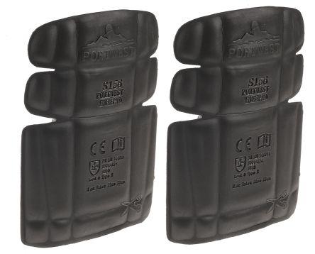 RS PRO EVA Foam Trouser Knee Pocket Rubber Knee Pad, Black