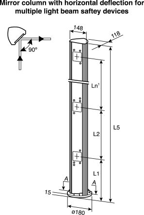 PM3S11-00330030 Sick | 3 Beam Mirror Column, 400mm gap | 271