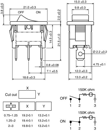 R1366bw1822231 Rs Pro Illuminated Spst Onoff Rocker. Wiring. Spst Toggle Switch Wiring Diagram Hvac At Scoala.co