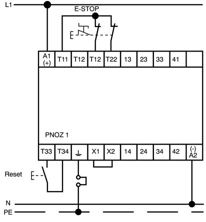 wiring safety pilz diagram relay pnoz1 schematics wiring diagrams \u2022 emergency stop assembly 475695 pilz pilz 24 v dc safety relay dual channel with 2 safety rh in rsdelivers com 48 volt battery wiring diagram pilz fault codes