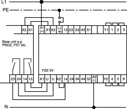 Pilz Safety Relay Wiring Diagram from media.rs-online.com