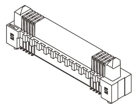 Samtec Edge Rate ERM8, 120 Way, 2 Row, Straight PCB Header