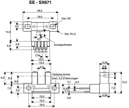 Omron Photoelectric Sensor Through Beam (Fork) 5 mm Detection Range NPN