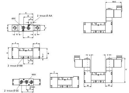 LF277384 99 8lm512 050 parker g1 4 optima solenoid solenoid valve 240 3502
