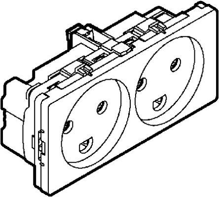 501d6012 Lk Lk 2 Gang Plug Socket 10a Type K