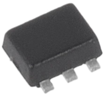 Dual N-Channel MOSFET, 540 mA, 20 V, 6-Pin SOT-563 ON Semiconductor NTZD3154NT1G