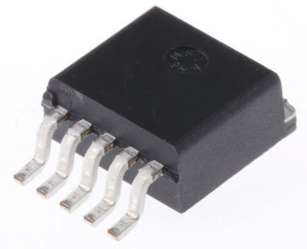 LM2575D2T-ADJG, 1, Switching Regulator Step Down 1A, Adjustable, 63 kHz 5-Pin, D2PAK