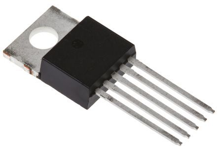 LM2576TV-ADJG, 1, Switching Regulator Step Down 3A, Adjustable, 63 kHz 5-Pin, TO-220