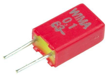 WIMA 100nF Polyester Capacitor PET 40 V ac, 63 V dc ±20% MKS02