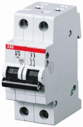 System M Pro S200 MCB Mini Circuit Breaker 2P, 63 A, 6 kA, Curve K