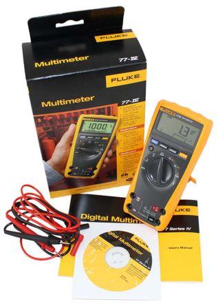 Fluke 77 Handheld Digital Multimeter With RSCAL calibration , 10A ac 1000V  ac 10A dc 1000V dc