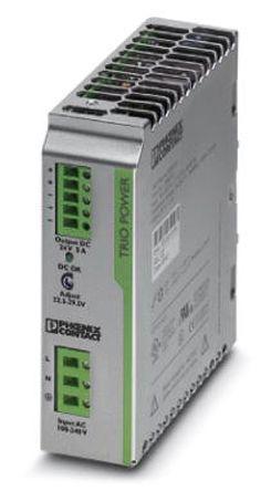 TRIO Switch Mode DIN Rail Panel Mount Power Supply, 120W, 24V dc/ 5A
