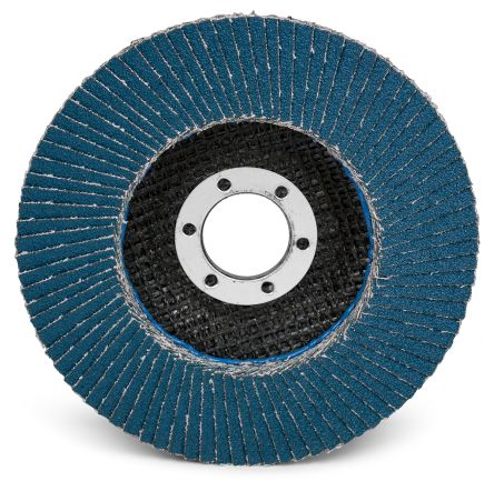 3M Zirconia Aluminium Medium Flap Disc, P80 Grit, 13000rpm, 115mm x 22mm Bore