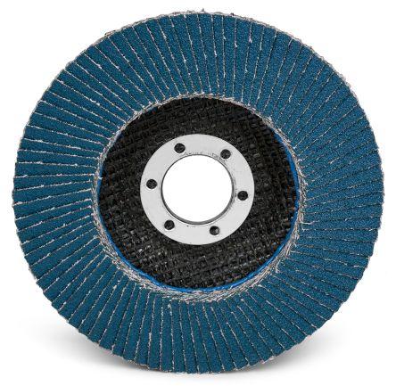 3M Zirconia Aluminium Medium Flap Disc, P80 Grit, 13000rpm, 115mm x 22mm Bore