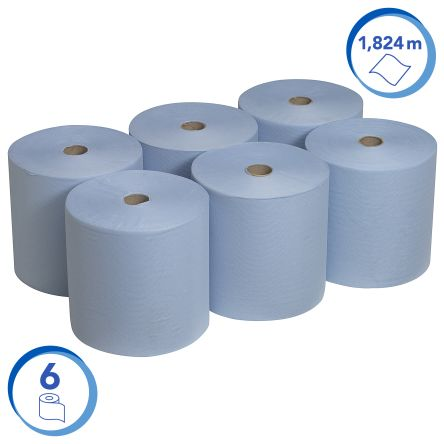Kimberly Clark Scott Rolled Blue 198 x 200mm Paper Towel, 7200 Sheets
