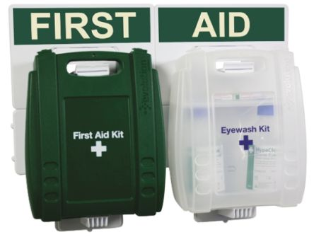 Wall Mounted First Aid & Eyewash Kit for 10 people