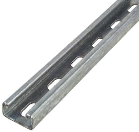 Unistrut 41 x 21mm Steel Strut, 2m Long