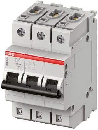 SMISSLINE S400 MCB Mini Circuit Breaker 3P, 63 A, 10 kA, Curve C product photo