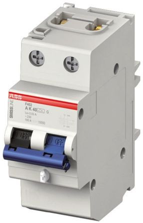 2P 25 A, Instantaneous RCD Switch, Trip Sensitivity 30mA SMISSLINE F402