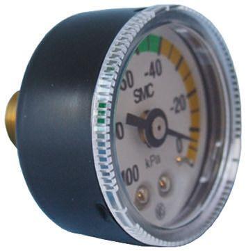 SMC GZ43-K-01 Analogue Vacuum Gauge, Maximum Pressure Measurement 0kPa, Connection Size R 1/8