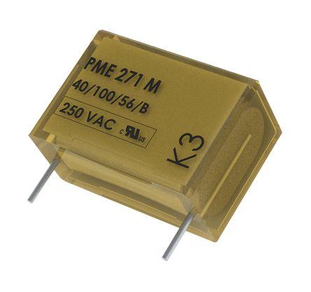 KEMET Paper Capacitor 47nF 275V ac ±20% Tolerance PME271M Through Hole +110°C