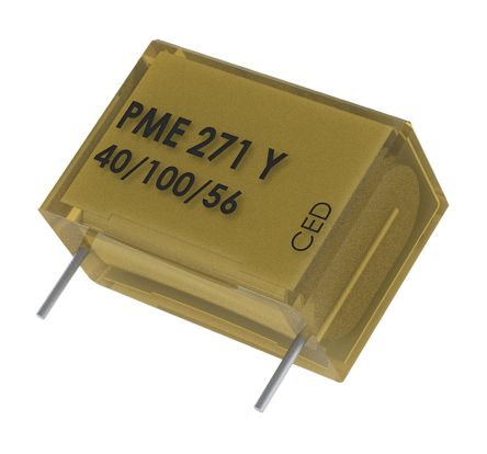 KEMET Paper Capacitor 4.7nF 250V ac ±20% Tolerance PME271Y Through Hole +100°C