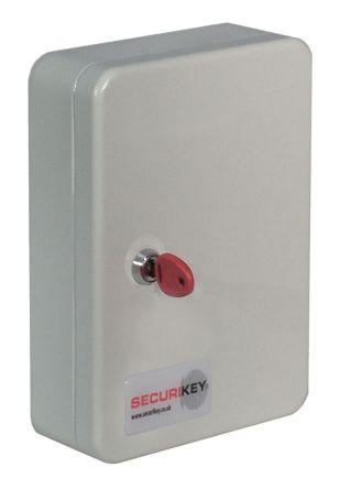 20 key grey steel cabinet,260x185x75mm