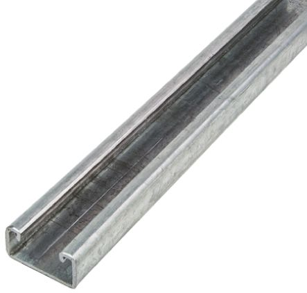 Unistrut 22 x 41mm Steel Strut, 2m Long