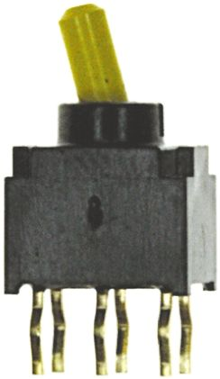 Copal Electronics DPDT Toggle Switch, On-On, PCB