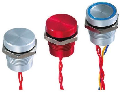 Flying Lead Piezo Switch, , IP68, 200 mA @ 24 V dc, NO, -40 → +75°C