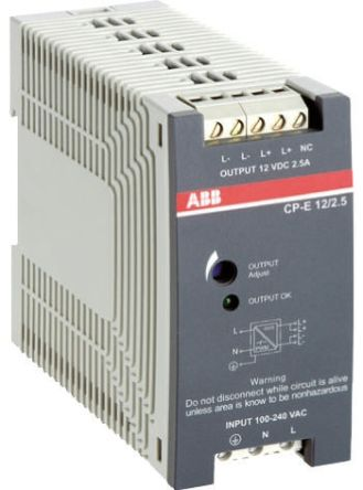 CP-E Switch Mode DIN Rail Panel Mount Power Supply, 18W, 24V dc/ 750mA