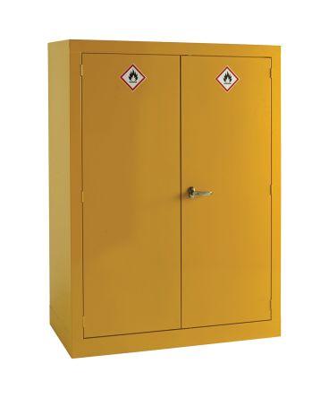 Yellow Lockable 2 Doors Hazardous Substance Cabinet, 1535mm x 1m x 560mm product photo