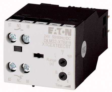 DILM Series Analogue (Star Delta) Electronic Timer, Range 1 -> 30s, NO/NC Contacts, 100 -> 130 V ac Coil product photo