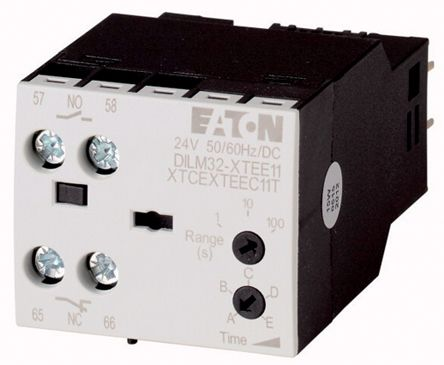 DILM32 Series Analogue (ON Delay) Electronic Timer, Range 0.1 → 100s, NO/NC Contacts DPST, 200 → 240 V ac