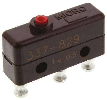 SPDT-NO/NC Plunger Microswitch, 5 A @ 250 V ac