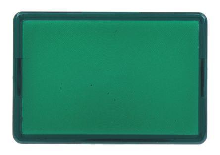 Rectangular green lens,14x20mm,flat