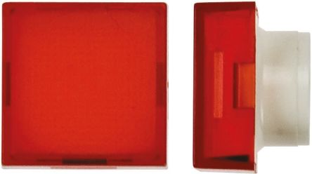 Square red lens for 16mm indicator