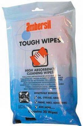 Ambersil Tough Wipes, 30 Hand Wipe Pack